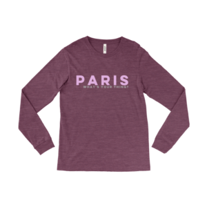 A long sleeve paris shirt